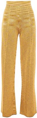 Missoni Sequin-embellished Crochet-knit Wide-leg Pants
