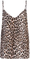 Equipment leopard print camisole top