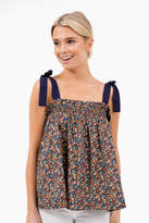 Sugar Lips Sugarlips Alessandra Floral Tie Shoulder Top