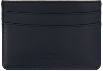 A.P.C. Navy Andre Card Holder