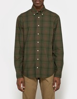 Gitman Brothers Archive Poplin BD in Olive