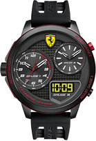 Ferrari Scuderia Men's Analog-Digital XX Kers Black Silicone Strap Watch 54mm 0830318