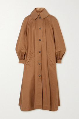 KING & TUCKFIELD Oversized Cotton-twill Trench Coat - Tan