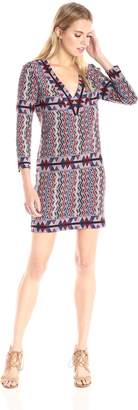 BCBGMAXAZRIA Azria Women's Belle V-Neck Knit City Dress