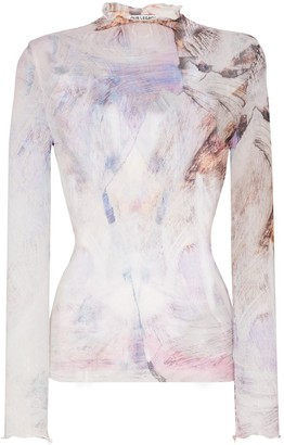 Our Legacy Marbled Print Long-Sleeve Blouse