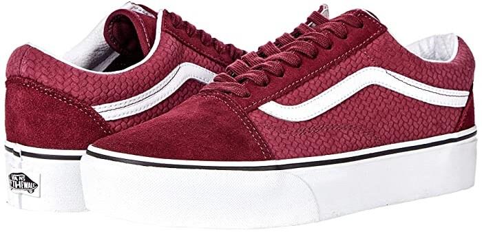 Vans Burgundy Shoes | Shop the world's largest collection of ...