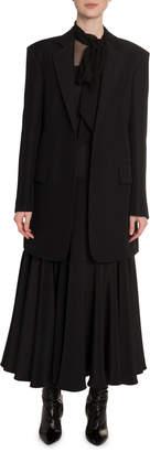 Valentino Lightweight Wool-Silk Knee Length Jacket