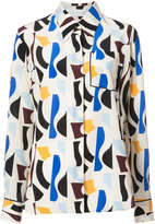 Victoria Beckham patterned long sleeve shirt