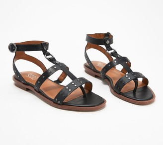 Franco Sarto Studded Leather Sandals - Madalaina