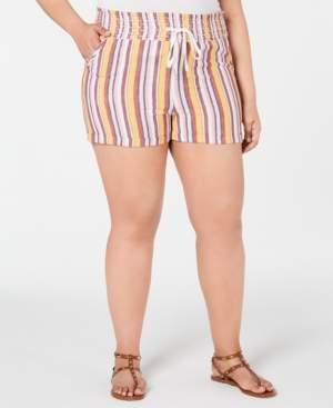 Planet Gold Trendy Plus Size Cotton Smocked Shorts