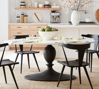 Pottery Barn Chapman Oval Marble Pedestal Dining Table
