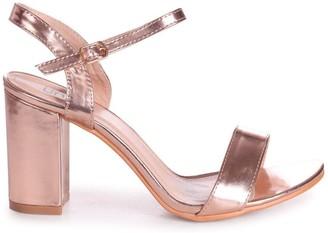 Linzi CHERUB - Rose Gold Open Back Barely There Block Heeled Sandal