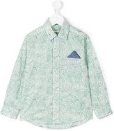 Cashmirino - Linear floral print shirt - kids - Cotton - 2 yrs