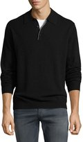 Neiman Marcus Cashmere Polo Sweater, Black