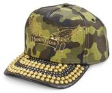 Robin's Jeans Metal Studded Brim Camouflage Cap