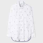 Paul Smith Women's White 'Gufram Cactus' Cotton-Twill Shirt