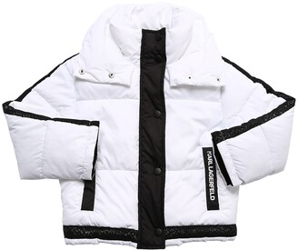 Karl Lagerfeld Paris Nylon Puffer Jacket