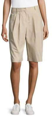 Lafayette 148 New York Clarkson Pleat-Front Shorts