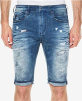 Buffalo David Bitton Men's Parker-X Slim-Fit Destroyed Denim Shorts