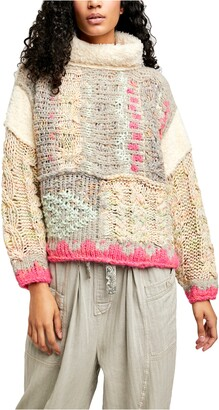 Free People Snow Haven Faux Shearling Pullover