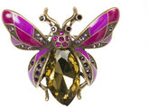 Oasis Gemstone Bug Brooch