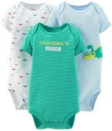 Carter's Just One You Baby Boys' 3 Pack Bodysuits, Grandma's Little Guy/, 9M