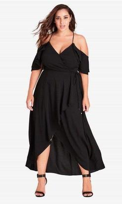 City Chic Miss Jessica Maxi Dress in Black Size 14/X-Small
