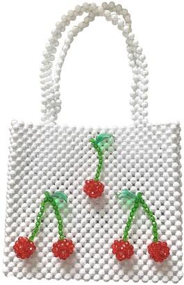 Susan Alexandra White Plastic Handbags