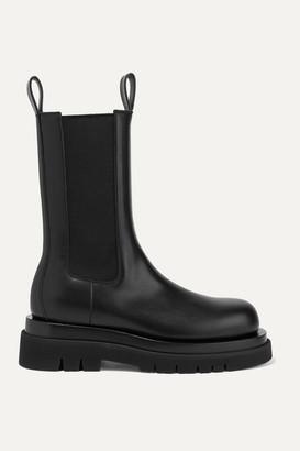 Bottega Veneta Leather Ankle Boots - Black