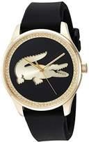 Lacoste Women's 'VICTORIA' Quartz Gold-Tone and Leather Casual Watch, Color:Black (Model: 2000968)