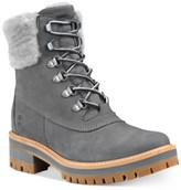 Timberland Women's Courmayeur Valley Shearling Leather Boots Women's Shoes
