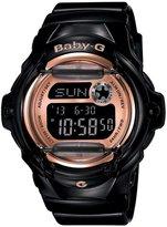 Baby-G Pink Champagne Series Digital Black Resin Ladies Watch