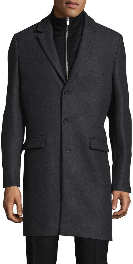 The Kooples Men's Authentic Wool & Cashmere Top Coat