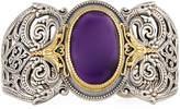 Konstantino Erato Filigree Cuff Bracelet w/ Amethyst Doublet