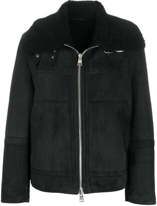 Ami Shearling Zipped Jacket