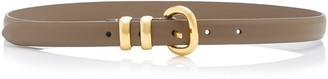 Andersons Skinny Satin-Finish Leather Belt