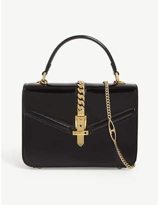 Gucci Sylvie patent leather mini tote