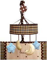My Baby Sam Baby Sam Mad About Plaid in Mobile Bedding Accessory- Blue