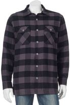 Croft & Barrow Big & Tall Flannel Shirt Jacket
