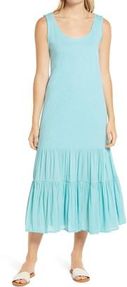 Caslon Mixed Media Drop Waist Maxi Dress