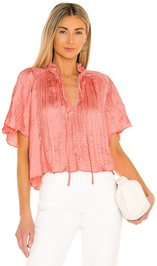 Thumbnail for your product : BCBGeneration Crinkle Satin Blouse