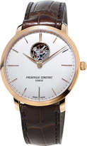 Frederique Constant FC-312V4S4 slimline gold-plated stainless steel and leather watch