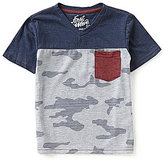 First Wave Little Boys 2T-7 Camo Colorblock Short-Sleeve Tee