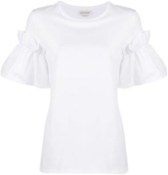 Alexander McQueen ruffle sleeve T-shirt