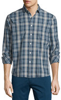 Billy Reid Multi-Plaid Long-Sleeve Woven Sport Shirt, Multi