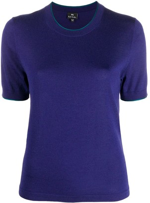 Paul Smith Woven Short-Sleeved Top