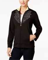 Alfred Dunner Petite Casual Friday Rhinestone Jacket