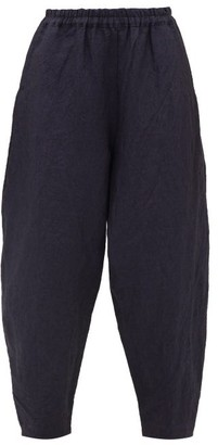 Toogood - The Acrobat Laundered-linen Trousers - Womens - Navy