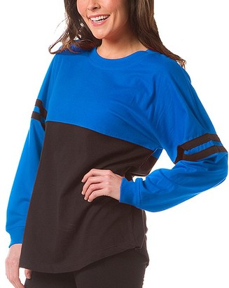 Boxercraft Women's Sleep Tops RYB - Royal Blue Pom-Pom Jersey Oversize Lounge Top - Women & Plus