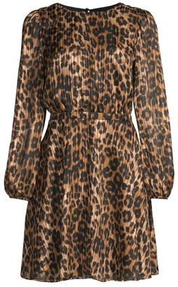 Milly Elma Leopard-Print Mini Dress